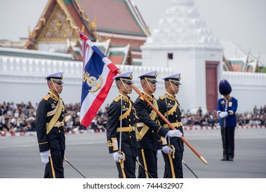 BANGKOK, THAILAND - OCTOBER 26 : Thai Army Parade during the Movement of His Majesty King Bhumibol Adulyadej Rama IX, at Sanam Laung on October 26, 2017, Bangkok, Thailand