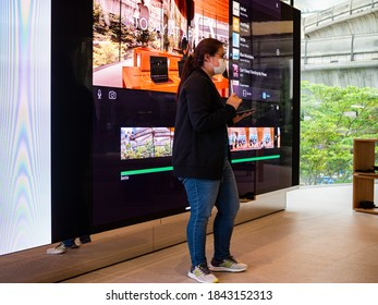 Bangkok, Thailand - October 29, 2020: Apple staff gives an iMovie beginner training session in the Today at Apple.