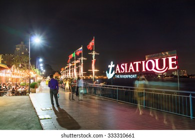 BANGKOK THAILAND , October 29 : ASIATIQUE The Riverfront Factory District on October 29, 2015 in Bangkok Thailand.