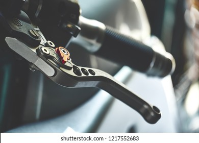 BANGKOK, THAILAND - OCTOBER 31, 2018: Close up of Brembo Clutch Levers. Perfect match with Brembo brake lever. Italian styling with black anodized finish. Aluminum construction & laser engrave badge.