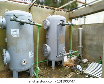 Bangkok Thailand on February 15, 2019: a purification water system was not running so long
