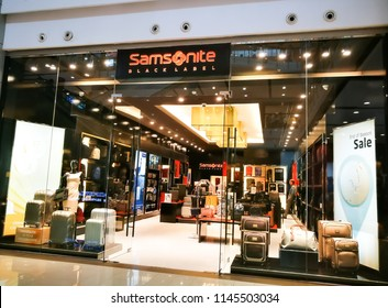 BANGKOK, THAILAND. – On July 24, 2018. – Samsonite is an American luggage retailer store in a shopping mall.