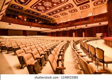 BANGKOK, THAILAND – On September 23, 2018. - Music Hall and theater at College Arts Building, Chulalongkorn University.