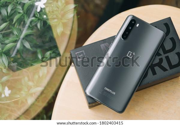 BANGKOK THAILAND : OnePlus launch new smartphone OnePlus NORD on August 19 ,2020 bangkok ,thailand