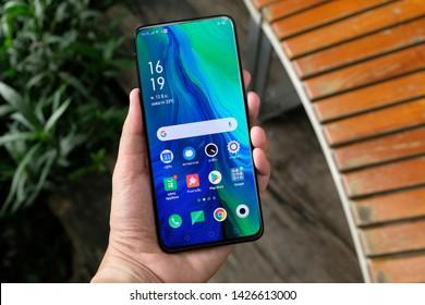 BANGKOK THAILAND : OPPO launch new smartphone OPPO RENO 10x Zoom on June 4 ,2019 bangkok ,thailand