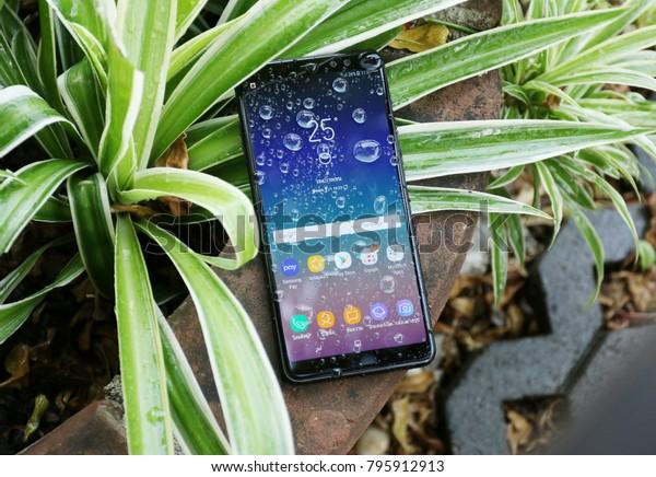 lowest price e042c 2d2b7 Bangkok Thailand Samsung Galaxy A8 2018 Stock Photo (Edit Now) 795912913