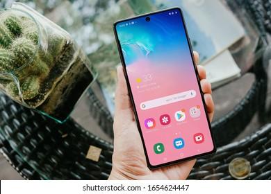 BANGKOK THAILAND : Samsung launch The New Galaxy Samsung Galaxy S10 Lite on January 29 ,2020 bangkok ,thailand