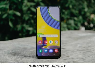 BANGKOK THAILAND : Samsung launch new smartphone Samsung Galaxy M31 on March 31 ,2020 bangkok ,thailand