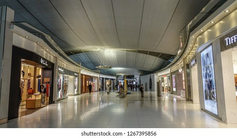 Bangkok, Thailand - Sep 16, 2018. Interior of Bangkok Suvarnabhumi (BKK). The Airport is one of two international airports serving Bangkok.