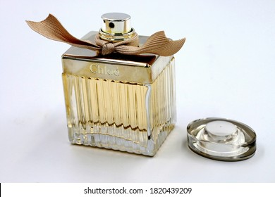 Bangkok, Thailand - Sep 17,2020 : Chloe perfume on the shop display for sale, Chloe is French luxury fashion house founded in 1952 by Gaby Aghion.