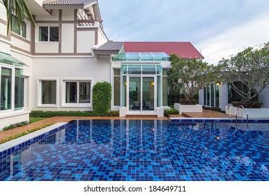 BANGKOK, THAILAND - SEP 23 : Architecture exterior of the Q House Prukpirom Regent Rachapruk- Ratanathibet.is located on Rachapruk- Ratanathibet, on September 23, 2013 in Bangkok, Thailand