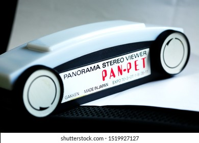 BANGKOK, THAILAND - SEP, 29: Vintage EXPO 1970 Osaka world expo panorama viewer japanese toy represent stereo viewer manufactured and film technology of japan on September 29, 2019 in Bangkok Thailand