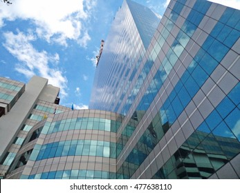 BANGKOK, THAILAND - SEP 3: Telecommunication Building (CAT Tower building) on SEP 3, 2016 in Bangrak ,Bangkok,Thailand. Office building is owned and operated by the CAT Telecom Public Company Limited.