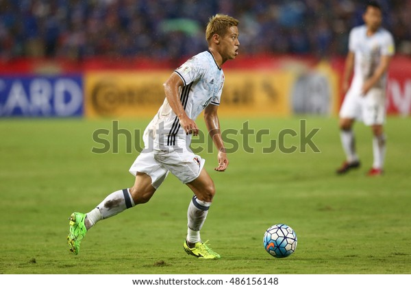 BANGKOK THAILAND SEP 6:Keisuke Honda of Japan in action during the 2018 FIFA World Cup Asian Qualifiers Match Thailand and Japan at Rajamangala Stadium on September 6,2016 in Thailand.