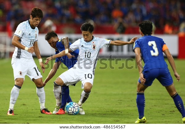BANGKOK THAILAND SEP 6:Shinji Kagawa of Japan in action during the 2018 FIFA World Cup Asian Qualifiers Match Thailand and Japan at Rajamangala Stadium on September 6,2016 in Thailand.
