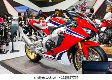 Bangkok, Thailand, Sep 8, 2019 - Honda CBR1000RR super big motorbike in motor exhibition