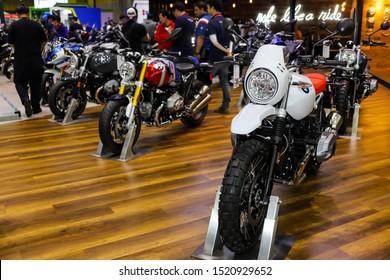 Bangkok, Thailand, Sep 8, 2019 - BMW big motorbikes booth in motor exhibition