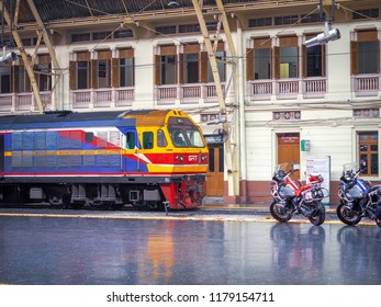 Bangkok, Thailand - Sep. 9,2018 : Bigbikes at Hua lamphong railways station