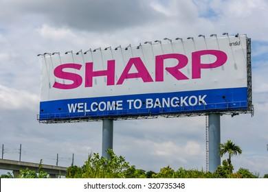 Bangkok Thailand - Sept. 25, 2015 -Billboard advertising along the highway.