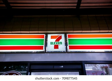 Bangkok, Thailand - September 05, 2017: Seven-Eleven is the largest convenience store chain in the world over 50,000 outlets in 10 countries.