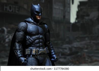 Bangkok, Thailand - September 1,2018 - A Batman action figure from famous DC comic