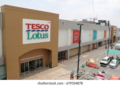 Bangkok, Thailand - September 14, 2016: Tesco Lotus is a hypermarket chain in Thailand operated by Ek-Chai Distribution System Co., Ltd. It operates 1,400 stores of which 1,100 are Express stores.