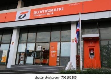 Bangkok, Thailand - September 14, 2016: Thanachart Bank Public Company Limited is the Thailand's sixth-largest bank in assets.