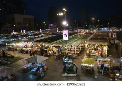Bangkok, Thailand - September 14, 2018: Neon Downtown Night Market, is one of the most interesting places that is currently gaining popularity. Come in concept, shop, taste, meet the modern lifestyle