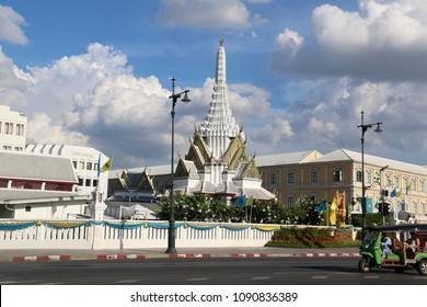 Bangkok, Thailand - September 16, 2016: Bangkok City Pillar Shrine was the first building built after the establishment of the Rattanakosin Kingdom to replace the old capital of the Thonburi Kingdom.