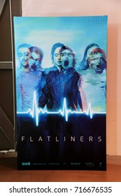Bangkok, Thailand - September 16, 2017: A Standee of The Movie Flatliners displays at the theater