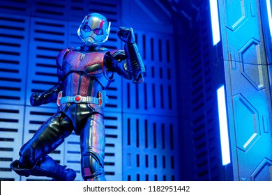 Bangkok, Thailand- September 16,2018: The Ant-Man action figure from famous Marvel comic.