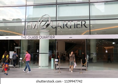 Bangkok, Thailand - September 18, 2016: The EmQuartier is a large shopping mall, which is one of three malls planned for the EM District.