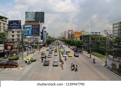 Bangkok, Thailand - September 18, 2016: Pattanakarn District is one of the growing areas in Bangkok, the capital city of Thailand.