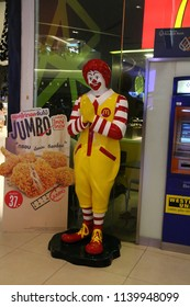 Bangkok, Thailand - September 18, 2016: McDonald's is the world's largest chain of hamburger fast food restaurants in 119 countries.