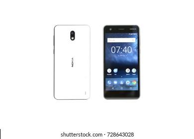 Bangkok, Thailand - September 18, 2017: Nokia 2 back and front Smartphone. New Brand Of Nokia for Editorial.