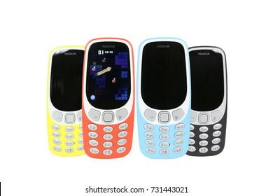 Bangkok, Thailand - September 18, 2017: Nokia 3310  Future Phone. New Brand Of Nokia for Editorial.