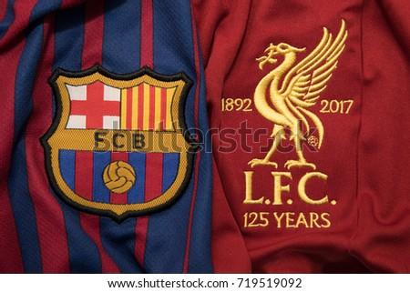 bangkok thailand september 19 logo barcelona の写真素材 今すぐ編集