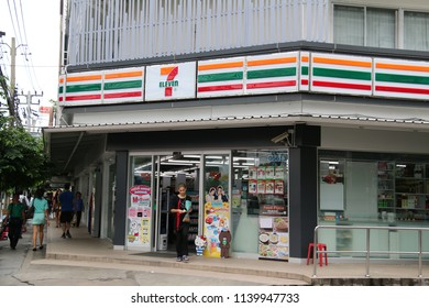 Bangkok, Thailand - September 20, 2016: 7-Eleven is an international chain of convenience stores operating franchises and licenses in 17 countries.