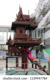 Bangkok, Thailand - September 20, 2016: Household shrine is a small structure dedicated to a deity that is part of a localised household deity.