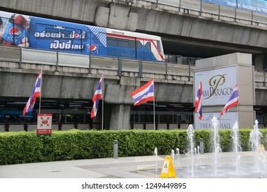Bangkok, Thailand - September 20, 2016: The Bangkok Mass Transit System, known as BTS or Skytrain, is an elevated rapid transit system in Bangkok.