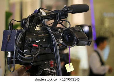 Bangkok, Thailand - September 20, 2016: Camera is prepared to record a performance on the stage.