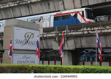 Bangkok, Thailand - September 21, 2016: The Bangkok Mass Transit System, known as BTS or Skytrain, is an elevated rapid transit system in Bangkok.