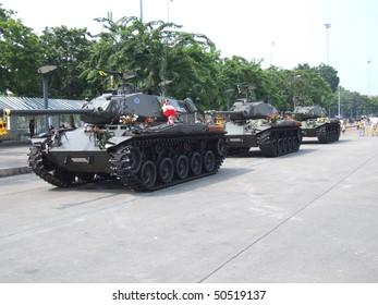 BANGKOK, THAILAND - SEPTEMBER 22 : Thai military take over the government of Prime Minister Thaksin  Shinawatra in a military coup September 22, 2006 in Bangkok.