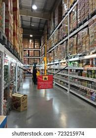 Bangkok, Thailand - September 24, 2017: Staff on duty, forklift are operating at makro super store. makro super store a big supermarket in Thailand.