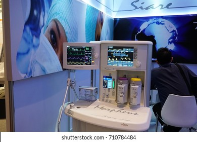 Bangkok, Thailand - September 7, 2017 ; Medical Fair Thailand held at QSNCC exhibition Hall which present Health Care Equipment, Instrument, Surgery Device to South East Asia Buyers as Business match