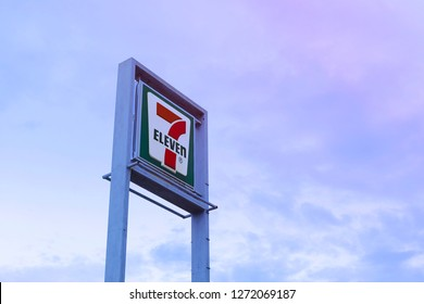 Bangkok, Thailand - September, 8 - 2018 :  Logo signage of 7-Eleven is the world's largest operator and franchisor of convenience stores.