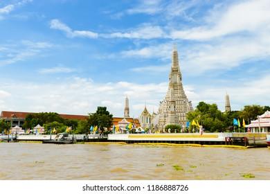 Bangkok, Thailand - September,18 , 2018 - Wat Arun Ratchawararam Ratchawaramahawihan or Wat Arun is a Buddhist temple in Bangkok ,Thailand