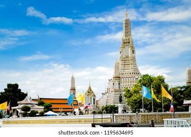 Bangkok, Thailand - September,18 , 2018 - Wat Arun Ratchawararam Ratchawaramahawihan or Watarun  is a Buddhist temple in Bangkok ,Thailand.