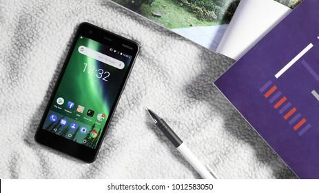 BANGKOK THAILAND : smartphone android NOKIA 2 launch on January 15 ,2018 bangkok ,thailand