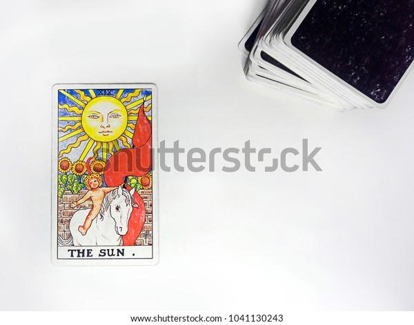 Bangkok Thailand Sun Card Tarot Deck Stock Photo (Edit Now